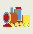 icon in flat design toy train vector image