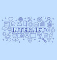 internet poster with flat icons set vector image vector image