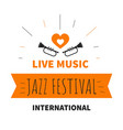 live music jazz festival isolated icon trumpet vector image vector image