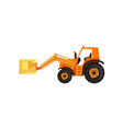 loader tractor agricultural machinery vector image vector image