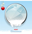 Merry Christmas border with ice and snow vector image vector image