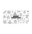 merry christmas creative xmas vector image vector image