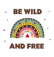 poster with wild tribal rainbow vector image vector image