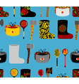 Russia seamless pattern Russian national objects vector image