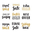 sale banner template elements hand lettering vector image