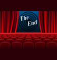 scene cinema the end background realistic cinema vector image