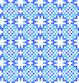 Seamless texture abstract embroidered blue pattern vector image vector image