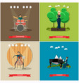 set singers and musicians concept flat vector image vector image