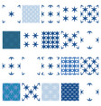 simple snowflake seamless set vector image