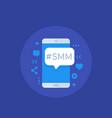 smm icon vector image