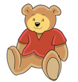 teddy bear toy vector image vector image