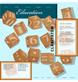 template for education site vector image vector image