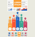 trendy futuristic eco city infographics templates vector image vector image