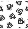 video camera icon seamless pattern background vector image vector image
