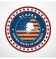 Vintage label Alaska vector image