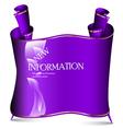 Violet banner vector image
