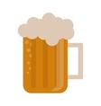 glass beer mug foam cold drink vector image