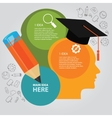 education info graphic idea design template vector image