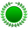 green laurels vector image