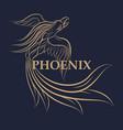 phoenix logo icon design vector image