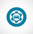 auto service icon bold blue circle border vector image vector image
