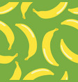 banana seamless pattern vintage style on green vector image vector image