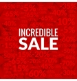 Big incredible sale background with percents vector image vector image