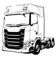 black and white truck sketch vector image