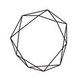 Black ink geometric diamond with place for text
