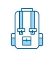 blue travel backpack cartoon vector image