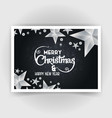 christmas invitation card with creative design vector image vector image