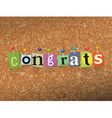 Congrats Ransom vector image vector image
