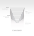 design pyramid infographic template white color vector image vector image