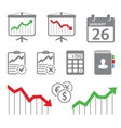 Economic icons vector image vector image