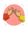eid mubarak icon concept forgive each other vector image vector image