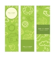environmental vertical banners set pattern vector image vector image