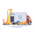 fast express delivery vector image