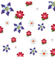 flowers decoration nature pattern background vector image