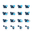 Folders Icons 1 Azure Series vector image vector image