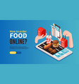 food online horizontal banner vector image