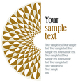 geometric round pattern vector image vector image