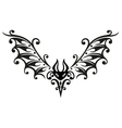 Halloween bat tribal vector image vector image