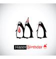 Happy Birthday Card penguin vector image vector image