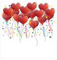 heart balloons party celeberation vector image