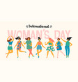 international women s day templates with vector image