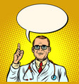 male doctor medicine and health vector image vector image