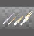 meteorcomet or rocket trails vector image