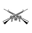 monochrome detailed crossed m 16 vector image
