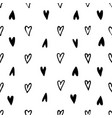 monochrome hearts signs seamless pattern vector image vector image
