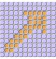 Orange arrow on a gray background vector image